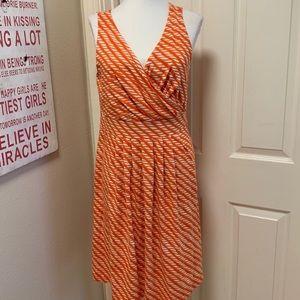 NWOT Lands' End Orange & White Dress, Medium